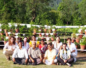 Dr Maurya with Italian students 2009