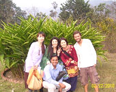 Japanees students at Herbal Garden with Dr Maurya 2010